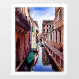 Get Lost In Venice Art Print