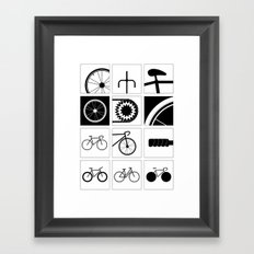 Bicycle Illustrations Framed Art Print