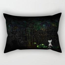 Night Forest Rectangular Pillow