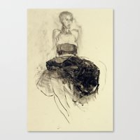 degas Canvas Prints featuring Hommage à Degas II by Ute Rathmann