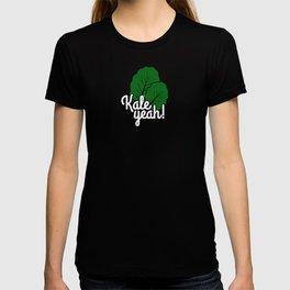 Food Pun Kale Yeah Foodie Gift T-shirt