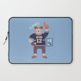 American Football Bear Laptop Sleeve