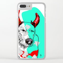 Baby Dog Clear iPhone Case