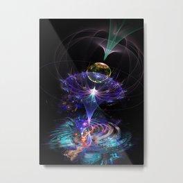 Iris Flame Fractal Metal Print