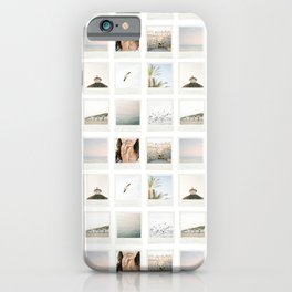 Instant film photo collage | Beach photography retro vintage look iPhone Case