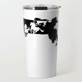 Massachussetts Morgan Figure Horse Lover Black Travel Mug
