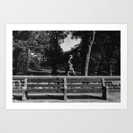 Park Slope Stroll Art Print