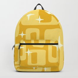 Retro Mid Century Modern Abstract Pattern 127 Yellow Backpack
