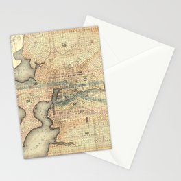 Vintage Map of Baltimore Maryland (1822) Stationery Cards
