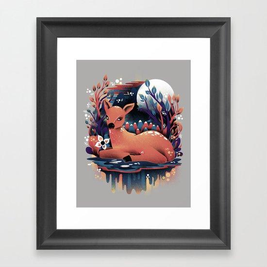 The Red Deer Framed Art Print