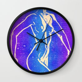 Neon Nude Wall Clock