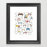 things with wheels Framed Art Print