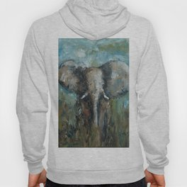 The Elephant | Oil Painting Hoody