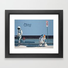 The Parking Ticket Framed Art Print