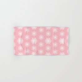 Frosty Snowflakes Sweet Blush Hand & Bath Towel