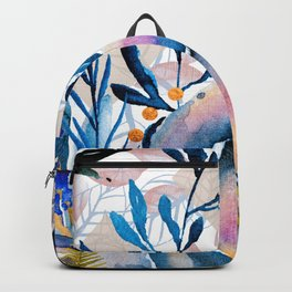 Flowers watercolor blue Backpack