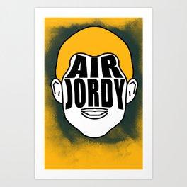 "Jordy Nelson ""Air Jordy"" Art Print"
