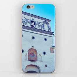 Ancient gate of Dawn into Old city in Vilnius iPhone Skin