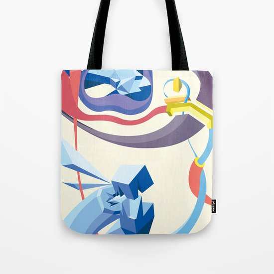 Diamonds, Hoses, Stairs, and Light Tote Bag