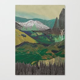Buffalo Mountains Canvas Print