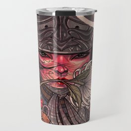 Female Samurai Warrior Travel Mug