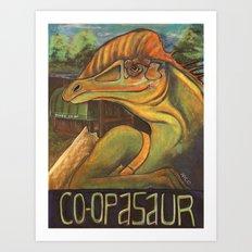 Co-opasaur Art Print