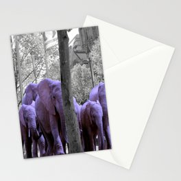 Purple guests Stationery Cards