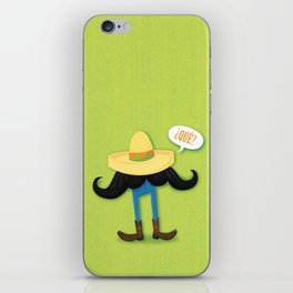 Mexstache iPhone Skin