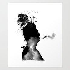 URBAN BLACK MAN Art Print