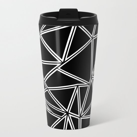 Shattered Ab Zoom Metal Travel Mug