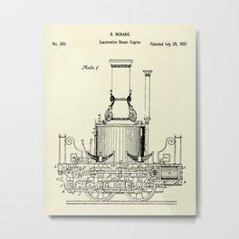 Locomotive Steam Engine-1837 Metal Print