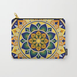 Italian Tile Pattern – Peacock motifs majolica from Deruta Carry-All Pouch