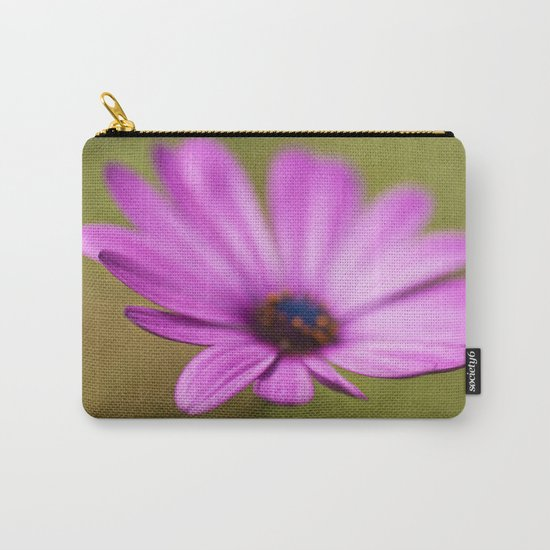 Purple Textured Flower II Carry-All Pouch