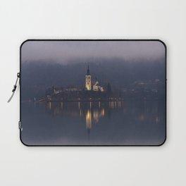 Misty Lake Bled At Night Laptop Sleeve