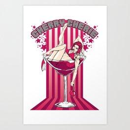 Cherry Cherie - Les filles à boire Art Print