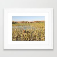 hunting Framed Art Prints featuring HUNTING by blake allan