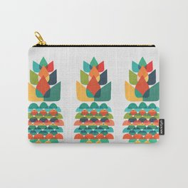 Colorful Whimsical Ananas Carry-All Pouch