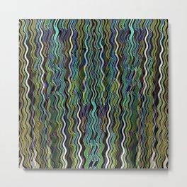 Wavy Wave Metal Print