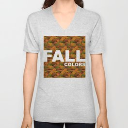 fall colors Unisex V-Neck