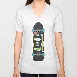 Skateboard Unisex V-Neck