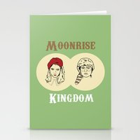 moonrise kingdom Stationery Cards featuring Moonrise Kingdom  by Sheena White for Winsome Gallery