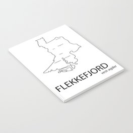 map of flekkefjord Notebook