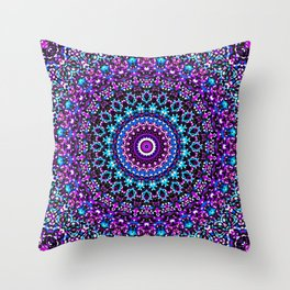 Mosaic Kaleidoscope 3 Throw Pillow