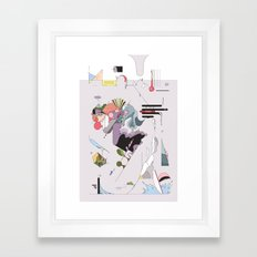 Cover for an imaginary magazine Framed Art Print