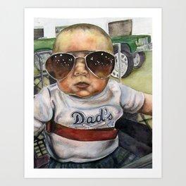 HangOver Baby Art Print