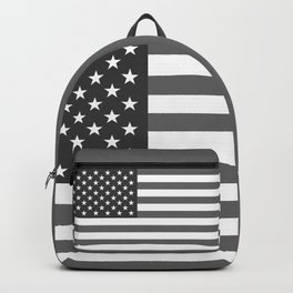 US national flag in Black and White Backpack