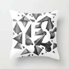 Not So Negative Space - White Throw Pillow