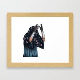 Floral Ghost Framed Art Print