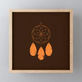 The Orange Dreamcatcher Framed Mini Art Print