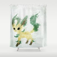 leaf Shower Curtains featuring Leaf by Melissa Smith